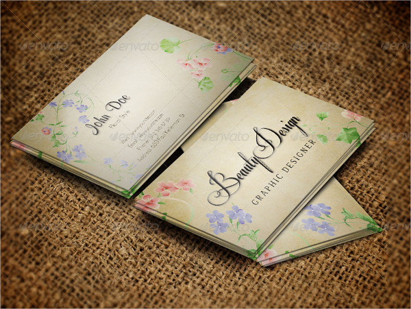 Floral Graphic Design Business Card