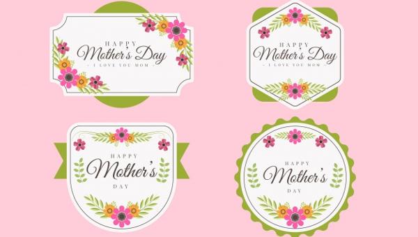 Floral Label Templates