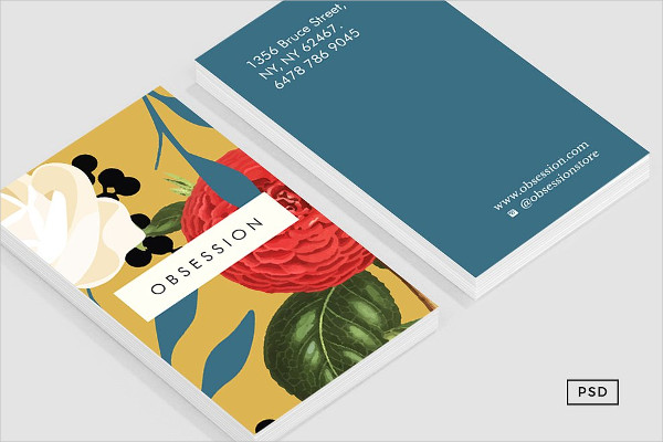 Floral Obsession Business Card