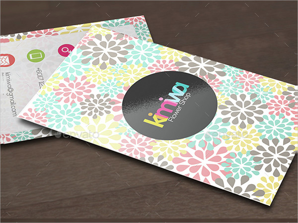 Floral Printable Business Card Template
