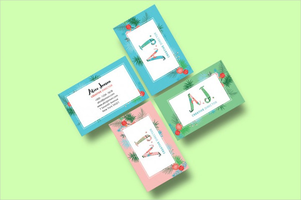 Floral Spring Business Card Design