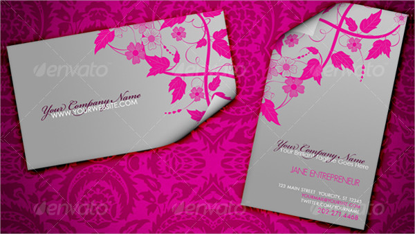 Floral Elegant Fashionable Business Card