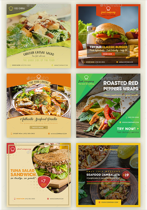 Professional Food Banner Design Bundle