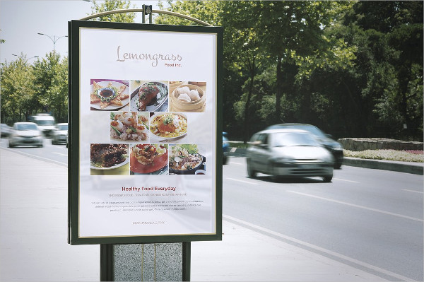Food Menu Display Poster for Restaurant