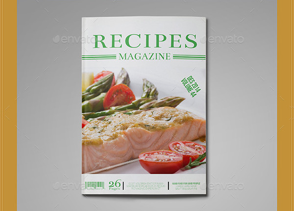 Food Recipes Magazine Template