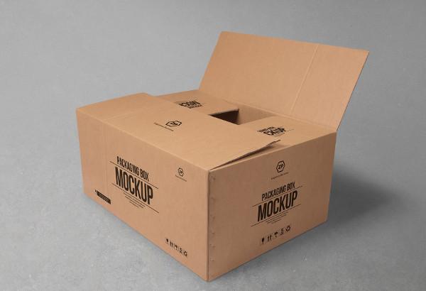 Free Cardboard Box Mockup For Packaging Designs