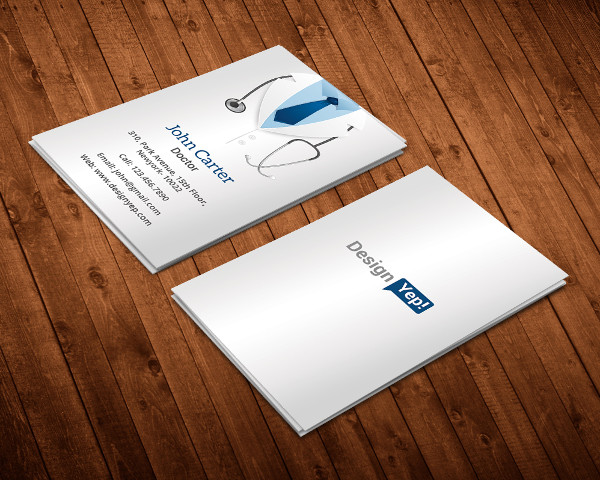 Doctor business card templates 21 free premium download free doctor business card template psd cheaphphosting