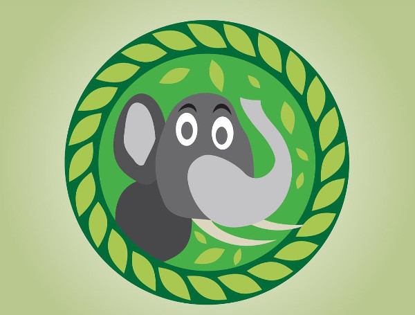 Free Download Cartoon Elephant Logo Vector