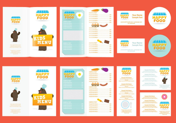 Free Download Kids InDesign Menu Template