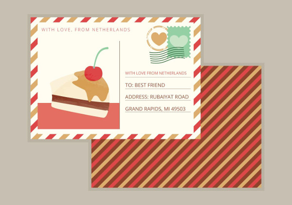 Free Download Restaurant Postcard