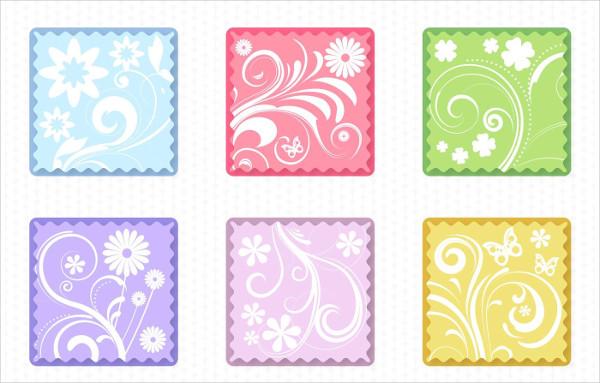 Free Download Spring Floral Flat Labels