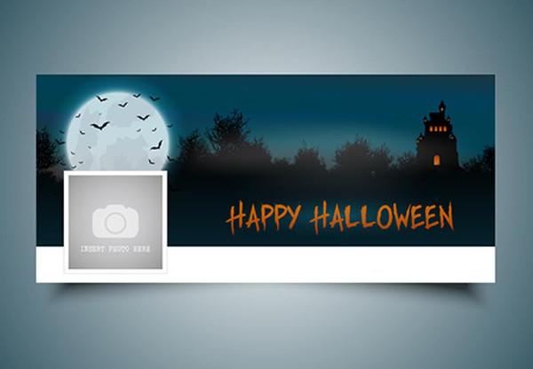 Free Halloween Landscape Timeline Cover Download