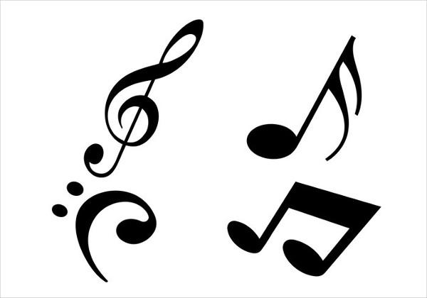Free Modern Music Notes Brushes