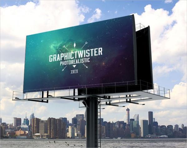 Free PSD Billboard Mockup Design