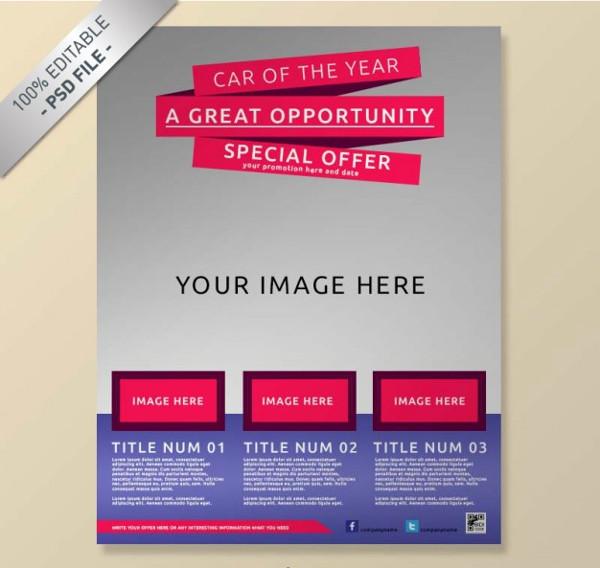 Free PSD Elegant Company Flyer