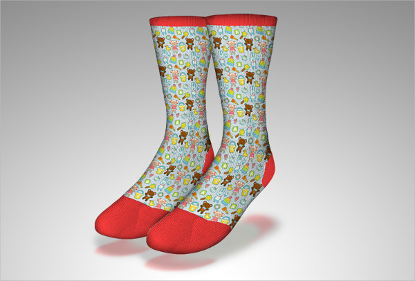 Free Socks PSD Mockup Download
