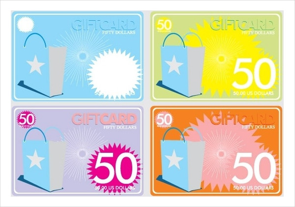 Free Vector Gift Cards Design