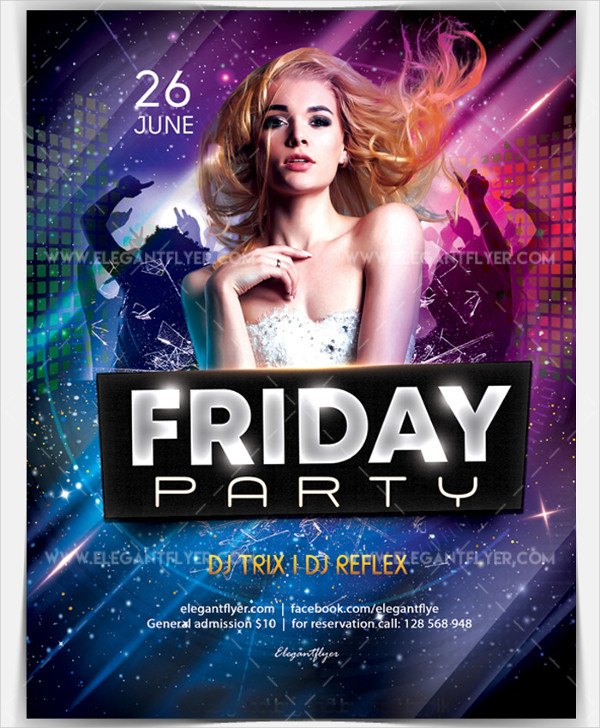 Friday Party Free Flyer PSD Template