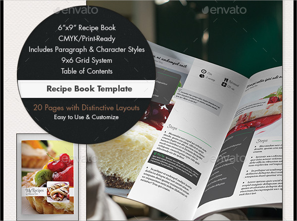 Full Page Recipe Template Editable