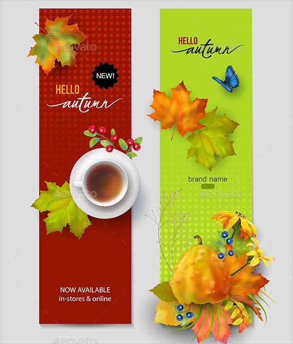 Fully Editable Autumn Advertising Banner