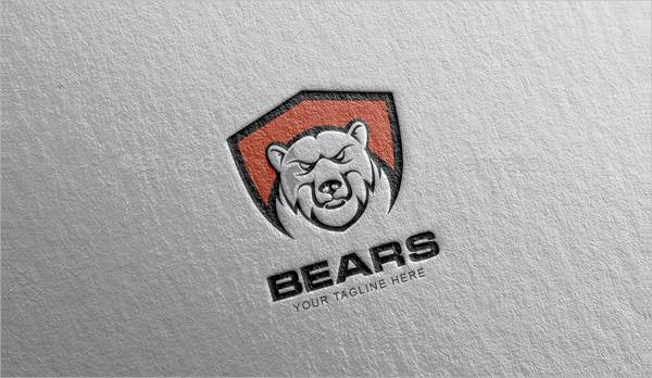 Fully Editable Bears Logo Design