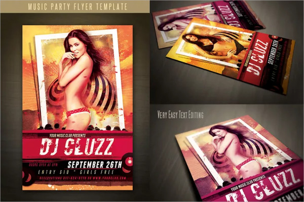 Fully Editable Retro Style Flyer Templates Free