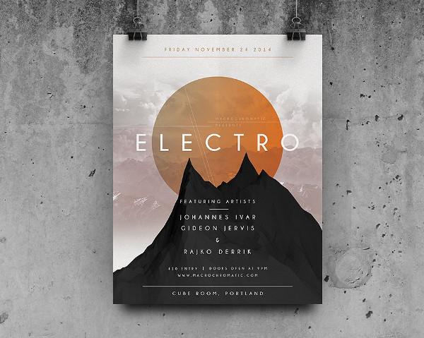 Geometric Concert Poster Design