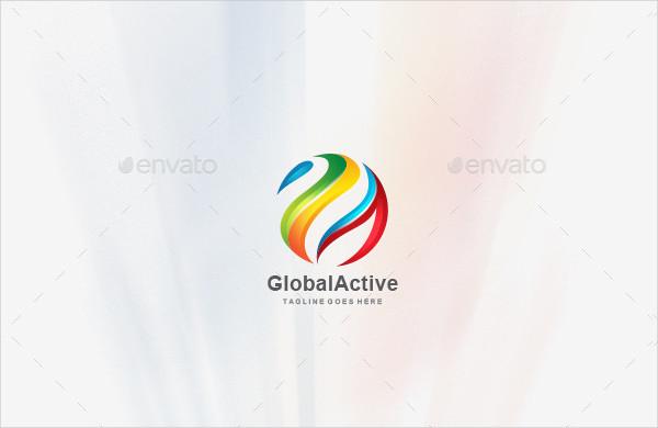 Global Active 3D Logos Template
