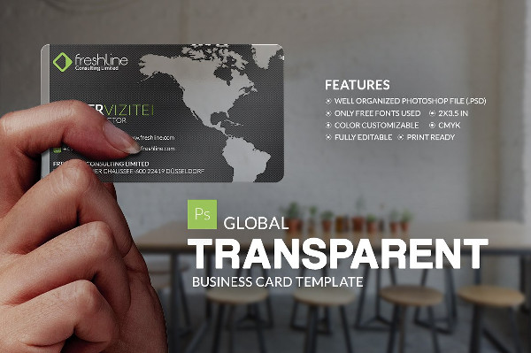 Global Transparent Business Card