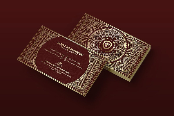 Gold Luxury Business Card Template Design