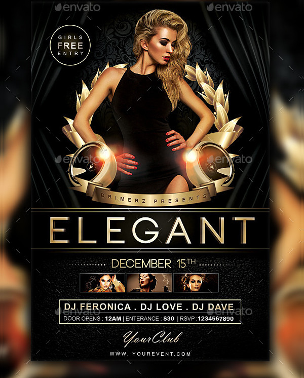 Golden Elegant Flyer Template