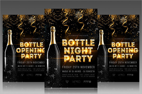 Grand Opening Champagne Party Flyer