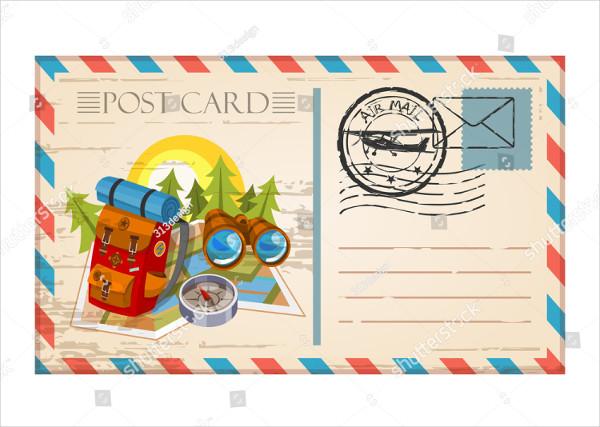 Vintage Travel Postcard Template