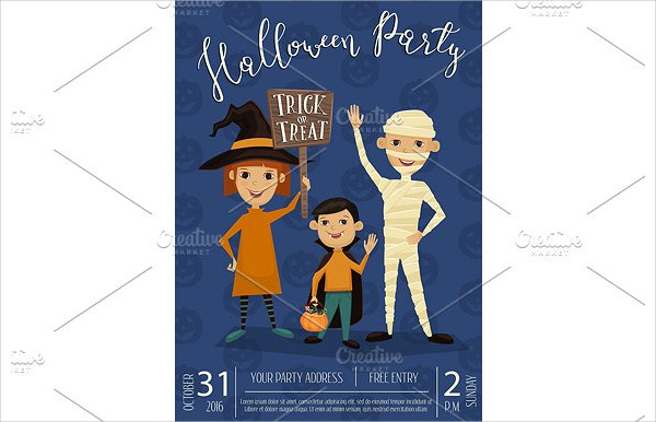 Halloween Party Banner Design