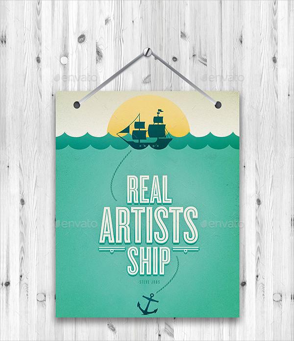 Hanging Poster Promotion Mockups