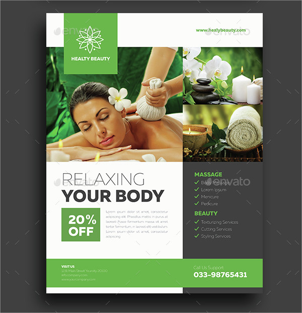 Sample Spa Flyer Template