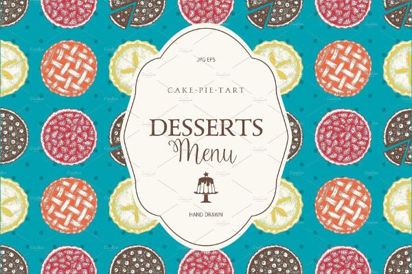 Holiday Desserts Menu Design