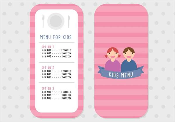 Holiday Menu For Kids Free Download