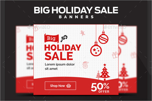 Big Holiday Sale Banners Design Set