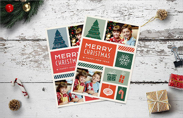 Illustrated Christmas Photo Card
