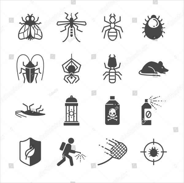 Insects And Pest Control Icons