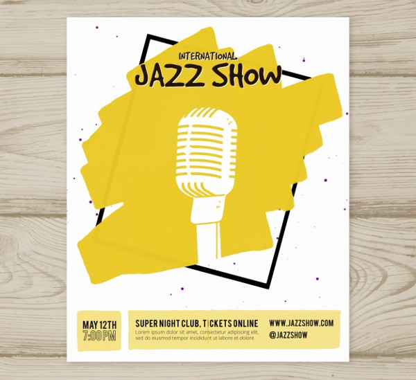 International Jazz Show Poster Free
