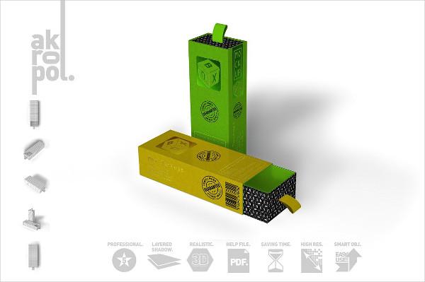 Custom Cardboard Box Mockup PSD