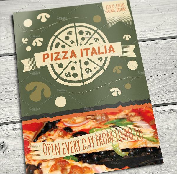 Printable Italian Dinner Menu Template