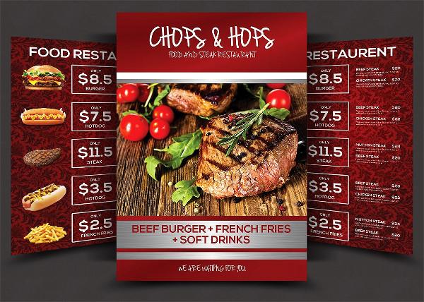 Italian BBQ Food Menu Flyer