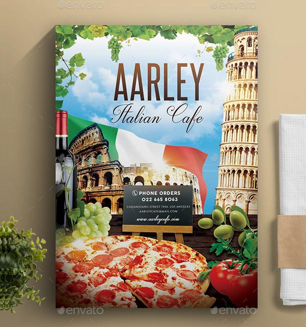 Popular Italian Cafe Menu Design