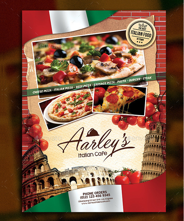 Italian Dinner Party Menu Template