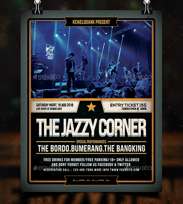 Jazz Concert Poster Design Template