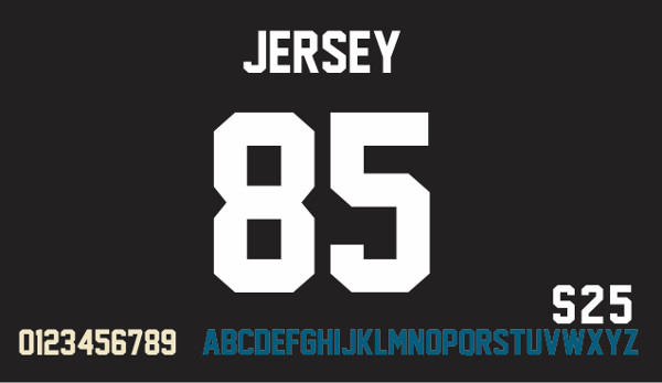 Jersey Number Font Free Download