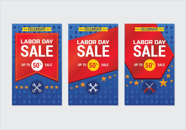 Labor Day Sale Promotion Advertising Banner Template Free